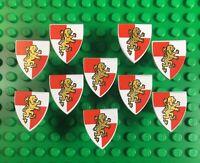 10 Lego Castle Minifig Shields Gold Triangular - New Accessories