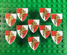 10 Lego Castle Minifig Shields Gold Triangular - New Accessories