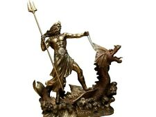 "Neptune The God Of The Seas Sea Veronese Figure Art Antique Gift 12"" 30 cm"
