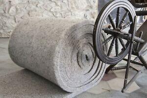 Isolante termico acustico naturale in lana di pecora cm 4 edilizia 1.2x10mt MQ12