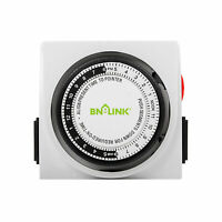 BN-LINK Dual Outlet 15 minutes to 24 Hour Heavy Duty Mechanical Timer