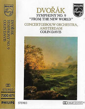 Dvořák Colin Davis ‎Symphony No9 From the New World CASSETTE ALBUM Concertgebouw