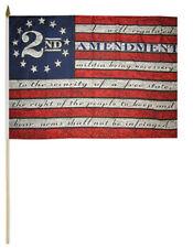 """2nd Amendment Betsy Ross 100D 12x18 12""""x18"""" Stick Flag 30"""" Wood Staff"""