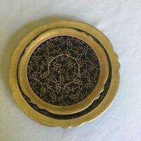 Vintage JLMENAU Graf von Henneberg Germany Echt Kobalt Gold Saucer & Desert Plat