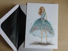 Papyrus Bella Pilar Dress London England-Large Blank Greeting Note Card-greeting
