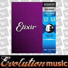 Elixir E11050 Polyweb Bronze Acoustic Guitar Strings Light 12/53