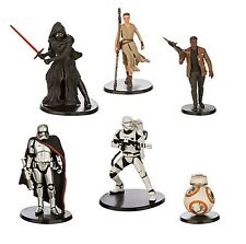6pc Star Wars Force Awakens Playset 6 Figure Cake Topper * USA SELLER* Toy Set