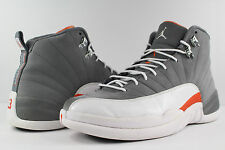 Nike Air Jordan Retro XII 12 Cool Grey White Team Orange Size 10.5