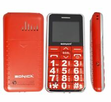 Sonica S1Brand New Big Button 2G Basic Mobile Phone Unlocked RED
