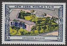 Usa Poster stamp:1939 New York World's Fair: Consumers Building - dw433/34
