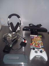 Microsoft original XBOX360 controller headphones 20gb harddrive kinnect + game