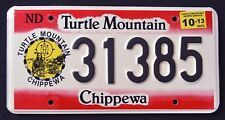 "NORTH DAKOTA "" TURTLE MOUNTAIN CHIPPEWA NATION TRIBE "" ND Indian License Plate"