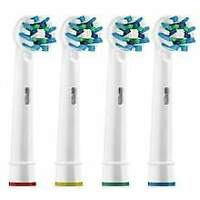 X4 Electric Toothbrush Oral B Replacement Heads Pack of4 Crossaction Oralb Braun