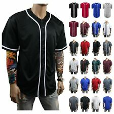 Men Baseball Jersey Team T-Shirt Uniform Sports Raglan Fashion Hipster Casual