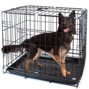 Folding Metal Pet Crate with Removable Liner by Weebo Pets XL AA01