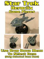 Star Trek Heroclix Game Pieces - Starships USS Pegasus, Rhode Island Etc - Used