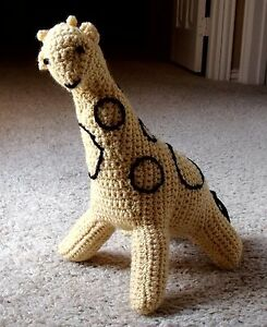 New Soft Handmade Crocheted Stuffed Spotted Baby Giraffe Toy Animal