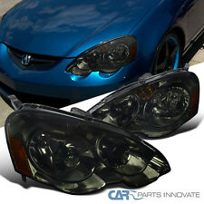 2002-2004 Acura RSX DC5 JDM Replacement Chrome Smoke Head Lights Lamps Pair