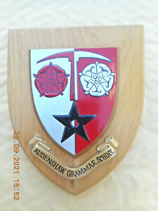 AUDENSHAW GRAMMAR SCHOOL  (MANCHESTER)     WALL PLAQUE/ CREST / SHIELD