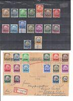 Elsass 1940, 1 - 16 o/**/*/(*), wahlweise gestempelt/ungebraucht, KW €15 -  75