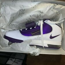 NIKE ZOOM SOLDIER IV LEBRON JAMES White/Purple  size 13.5 Deadstock!!
