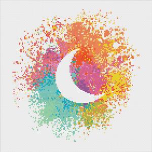 Moon Cross Stitch Pattern by Meloca Designs