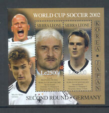 "Sierra Leone - Souvenir Sheet Year 2002 MNH** ""World Cup 2002 Second Round"""
