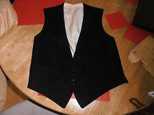 """Vtg Black Formal Adjustable Waistcoat size 34"""""""