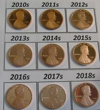 ALL 10 DCam Proof Shied Cents 2010s to 2019s - 10 Superb Problem Free Coins