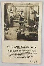 1907 Postcard Black Americana RPPC The Village Blacksmith Longfellow Poem