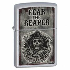 Zippo Sons of Anarchy Fear the Reaper Satin Chrome Windproof Lighter