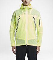 Nike Lab Men's Packable Jacket White Lable 655311-702 Volt White Size XL