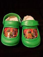 Nickelodeon TMNT Teenage Mutant Ninja Turtles Clogs w/Faux Fur Toddler Size 7/8