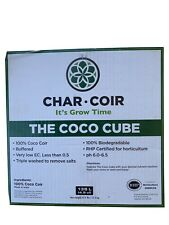 "Char Coir Coco Cube Dehydrated/Compressed - 32/Case 6"" RHP"