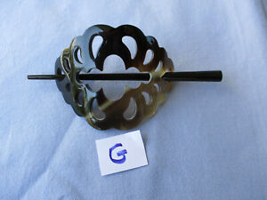 Haarspange, Haarschmuck, Büffelhorn, Handarbeit, Naturprodukt - 11041 - G