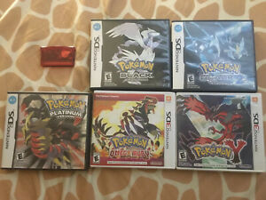 Pokemon game bundle. Ds, 3DS and GBA Games.