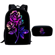 Galaxy Backpack Women School Shoulder Bag Travel Kid Pencil Bag Rucksack Satchel