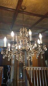 antique bronze chandelier 8 arms
