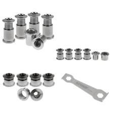 15 Pairs Multi Size Crankset Bolts Crank Screws Nuts & 1 Hexagon Wrench Set