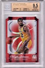 2012 Panini Elite Magic Johnson ELITE STATUS Die-Cut RED Refractor /32 BGS 9.5
