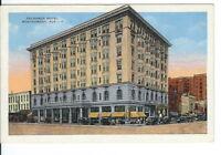 CB-063 AL, Montgomery, Exchange Hotel, Linen Postcard Old Cars Corner View