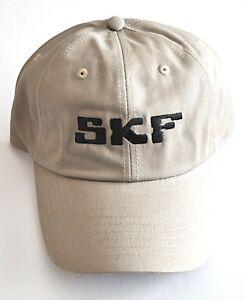 SKF Embroidered Logo Hat Strapback Adult Adjustable Light Tan