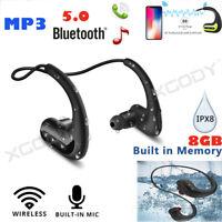 Wasserdicht Schwimmen Bluetooth Kopfhörer In Ear Stereo Headset MP3 Player IPX8