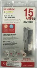 Square D Homeline HOM115DFC Plug-On Neutral Dual Function Breaker
