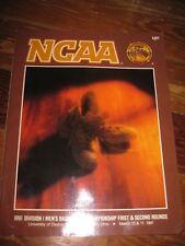 1991 NCAA Basketball Program for the 1st & 2nd rounds University of Dayton Arena
