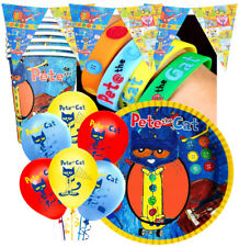 5PC  CAKE PETE THE CAT TOPPER CUPCAKE BALLOON SUPPLIES DECORATIONS  FAVOR