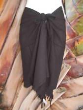Sarong Short Black Pareo Beach Pool Coverup Luau Cruise Wrap Dress Skirt