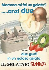 X1369 Il Gelataio SIMAC - Pubblicità del 1989 - Vintage advertising