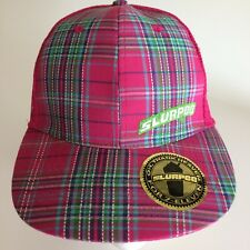Slurpee Baseball Cap Hat Oh Thank Heaven For 7-Eleven Strapback Tag Pink Plaid