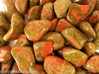 *ONE* Unakite Tumbled Stone 30-40mm QTY1 Crystal Healing Reiki Pregnancy Unborn